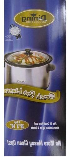 crock pot slow cooker liners 18 x