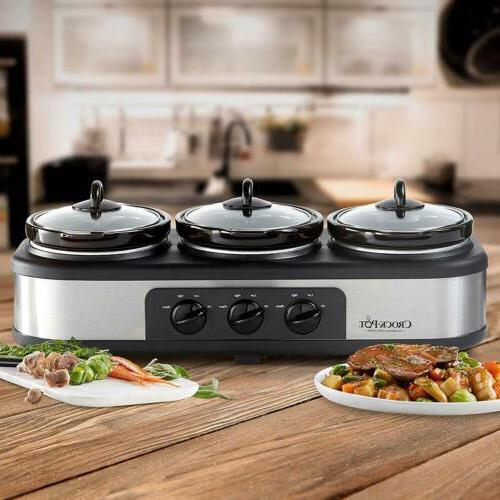 Crock-Pot Stainless Steel Cook Cooker & Food