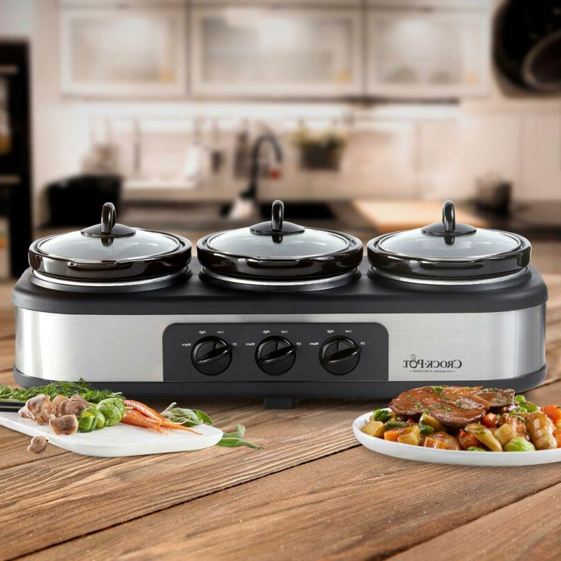 Crock-Pot Trio Cook and Serve Slow Cooker Food Warmer Stainl