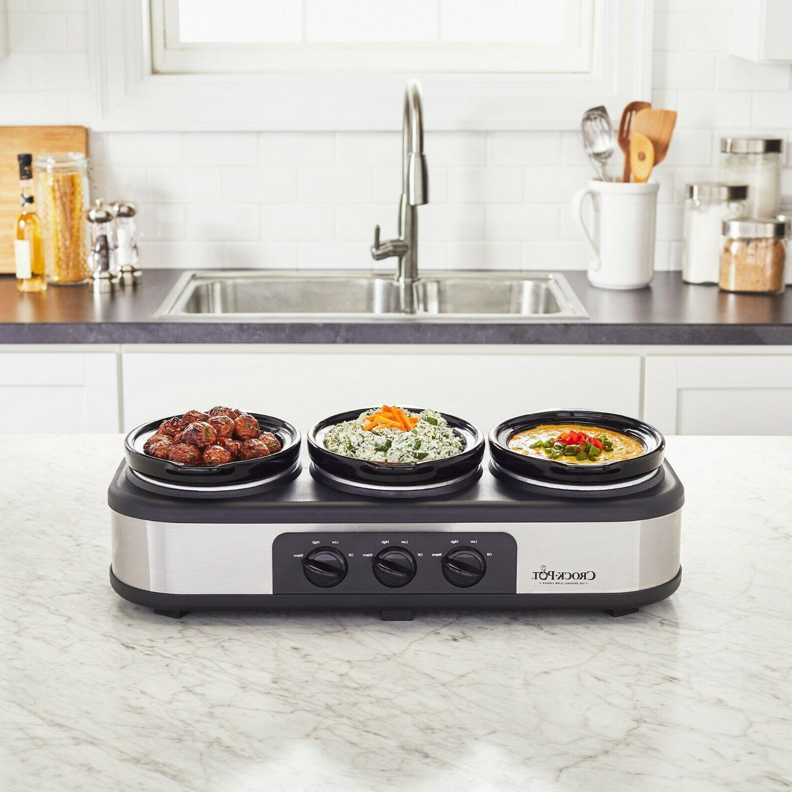 Crock-Pot Serve Slow Cooker Food Warmer, Steel