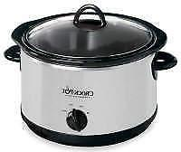 CrockPot 5-Quart Manual Slow Cooker SCR500-SP New Freeshippi