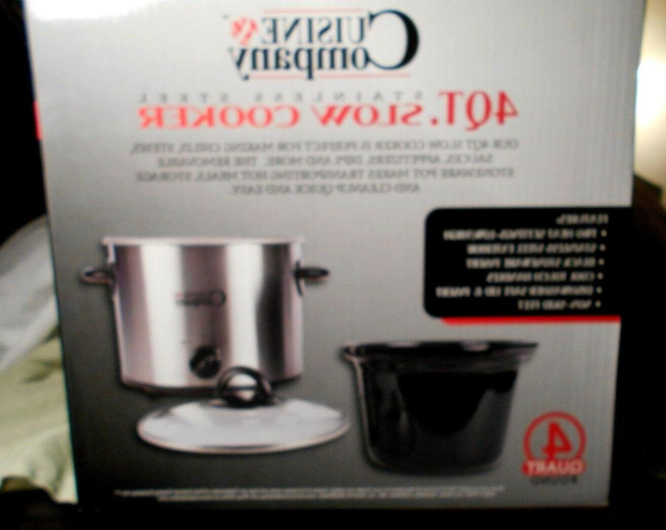 Stainless Steele Crock Pot 4 NEW