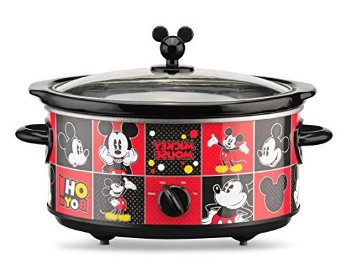 Disney Mickey Mouse Oval Slow 20-Ounce 5-Quart, Red/Black