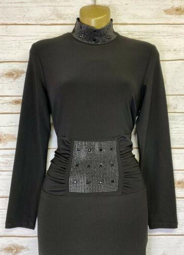 FRANK LYMAN Design Black Stretch Dress Sz US/CAN Neck