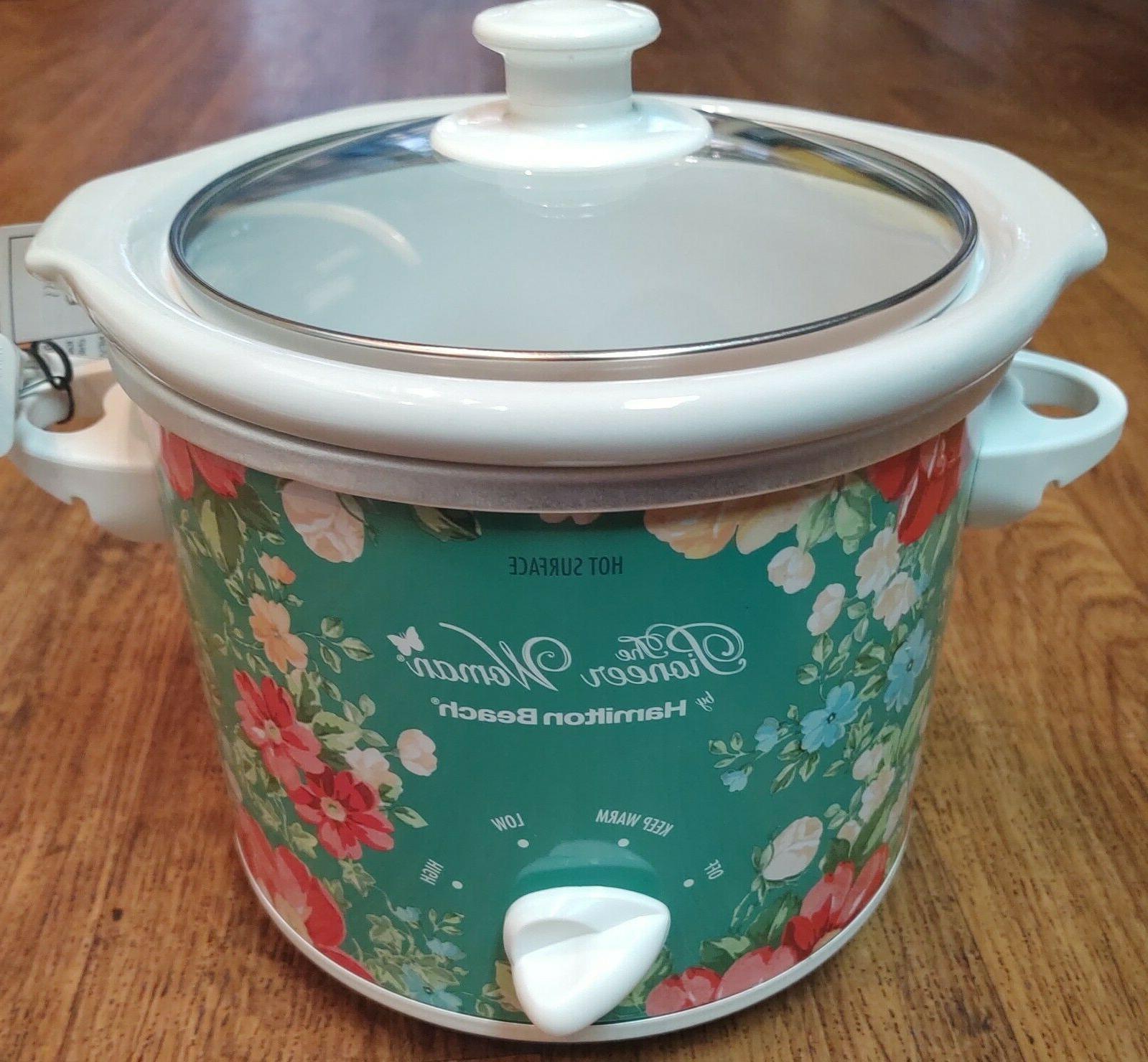 Floral Slow Cooker Crock Pot Pioneer Woman 1.5 Quart Fiona V