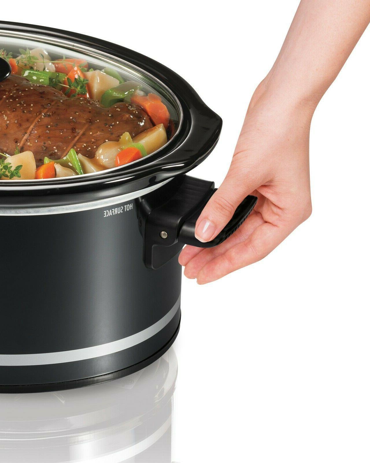 Hamilton Qt Slow Cooker Crock Pot Black