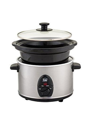 Haus Kalorik HSC 44235 SS Programmable Slow Cooker 2.5 Quart, Stainless