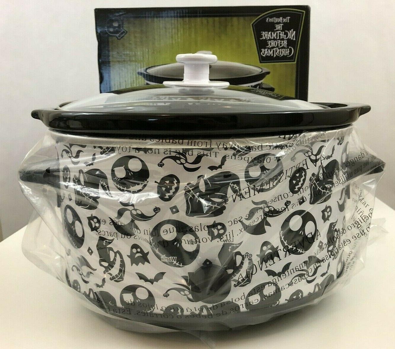jack skellington 4 qt slow cooker crock