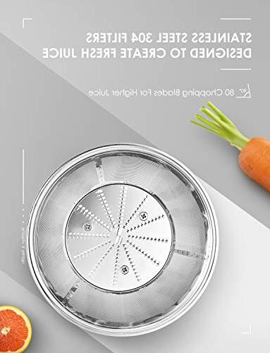 Juicer Aicok Centrifugal with Wide 3 Speed Juice Fruit and Vegetable, Stainless Steel