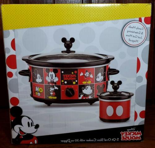 mickey mouse 5 quart oval slow cooker