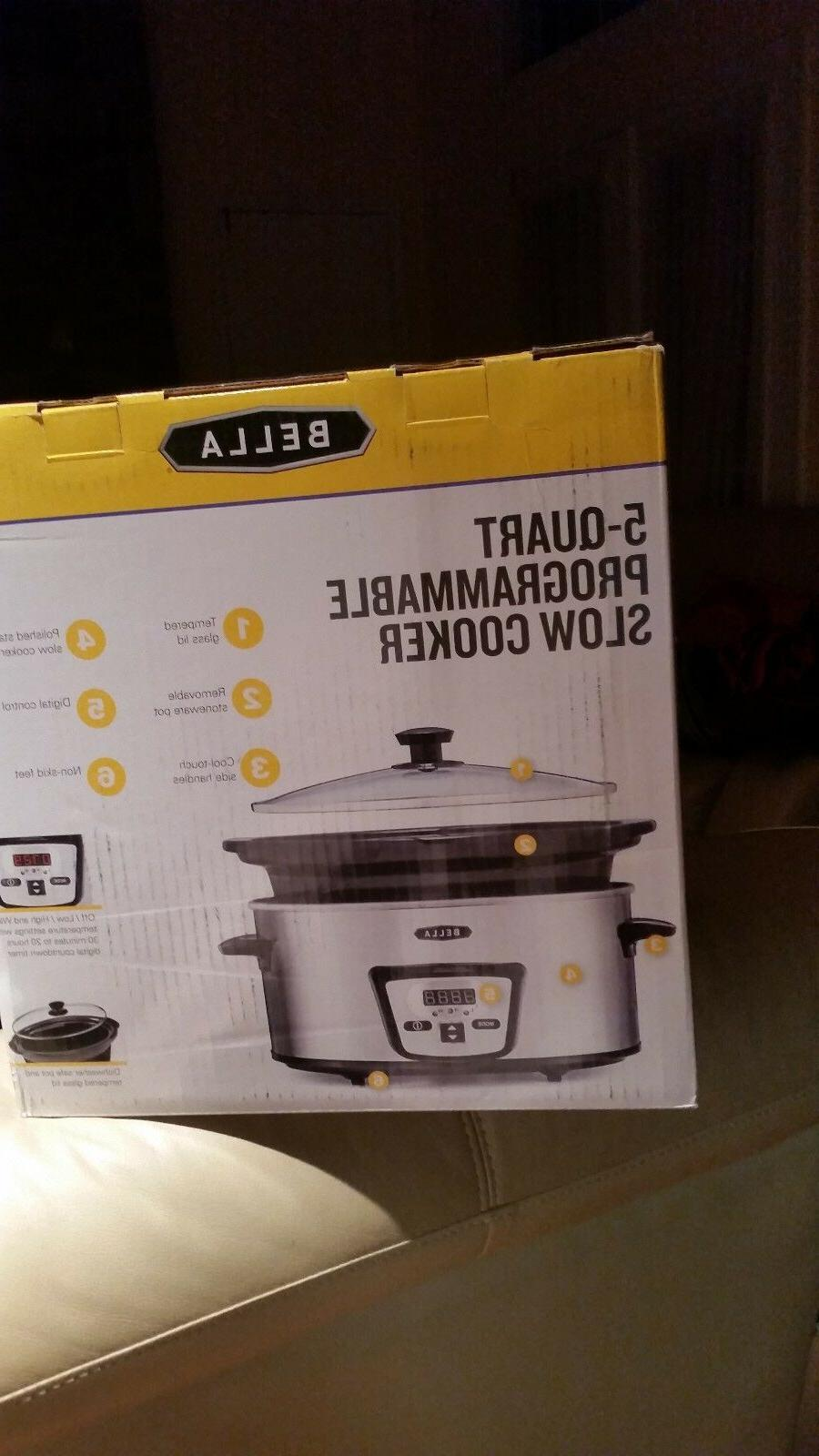 New Bella Programmable Cooker Pot QT Polished Stainless Steel