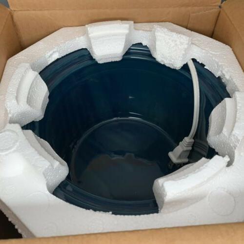 NEW Crock Stoneware white Blue Vintage