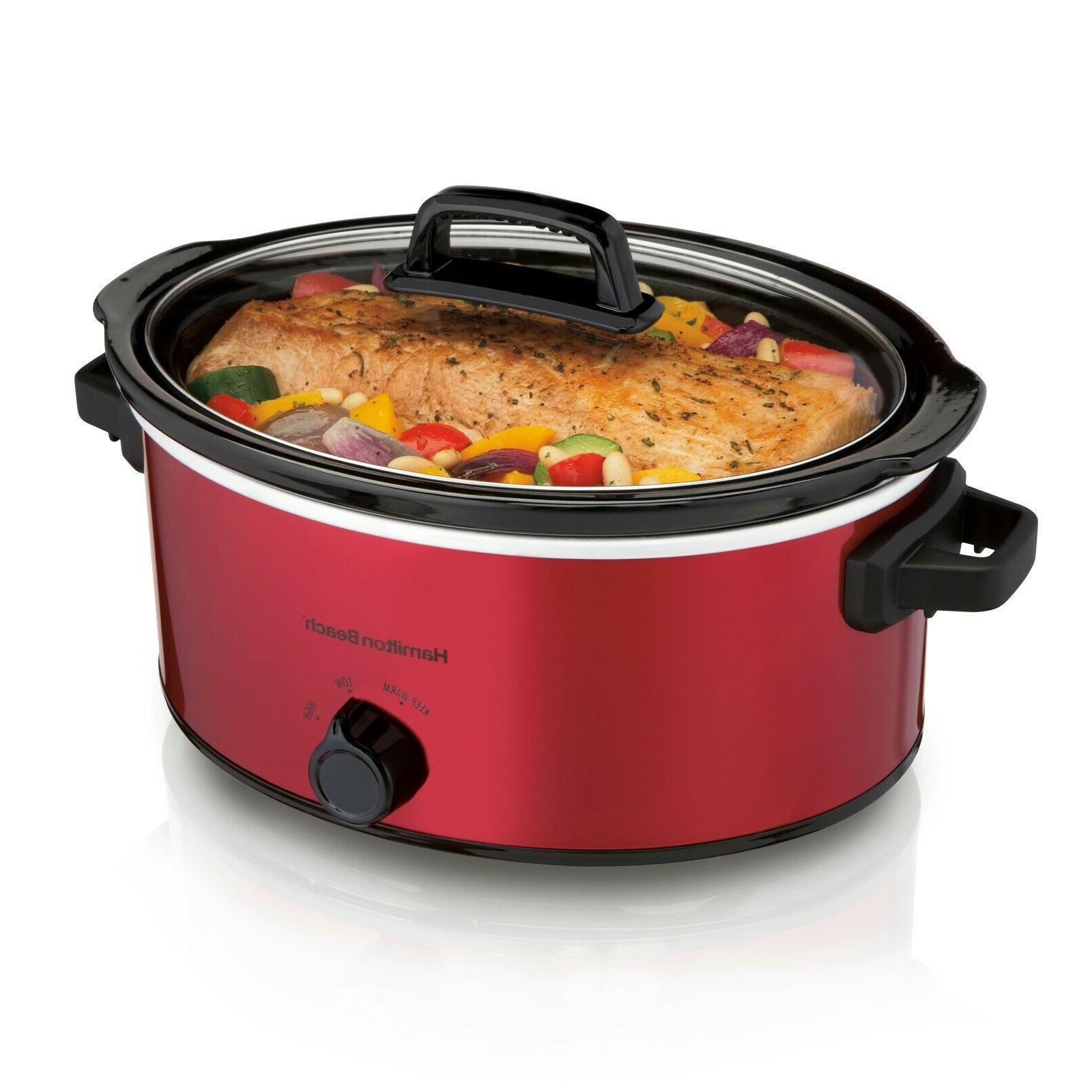 Removable Slow   Red Crock Pot