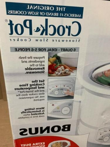 Rival 38601 Crockpot Oval Slow Cooker- New In