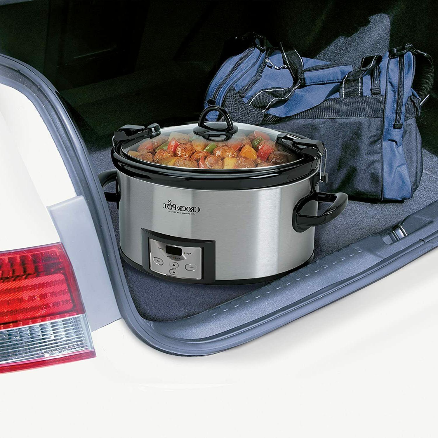SCCPVL610-S-A Cook Carry Programmable Slow Cooker with Timer