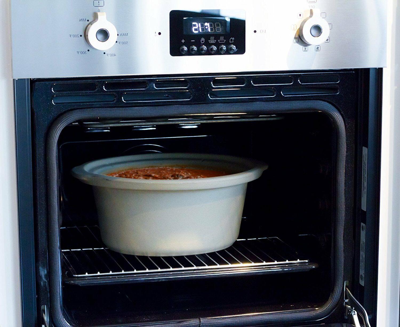 Slow Cooker Crock 5 Qt Natural Stovetop Oven Safe