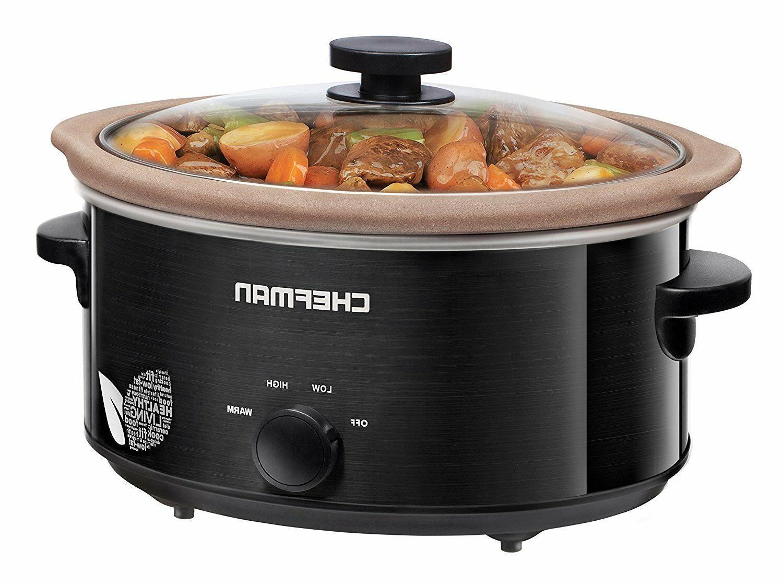 slow cooker crock pot 5 qt natural