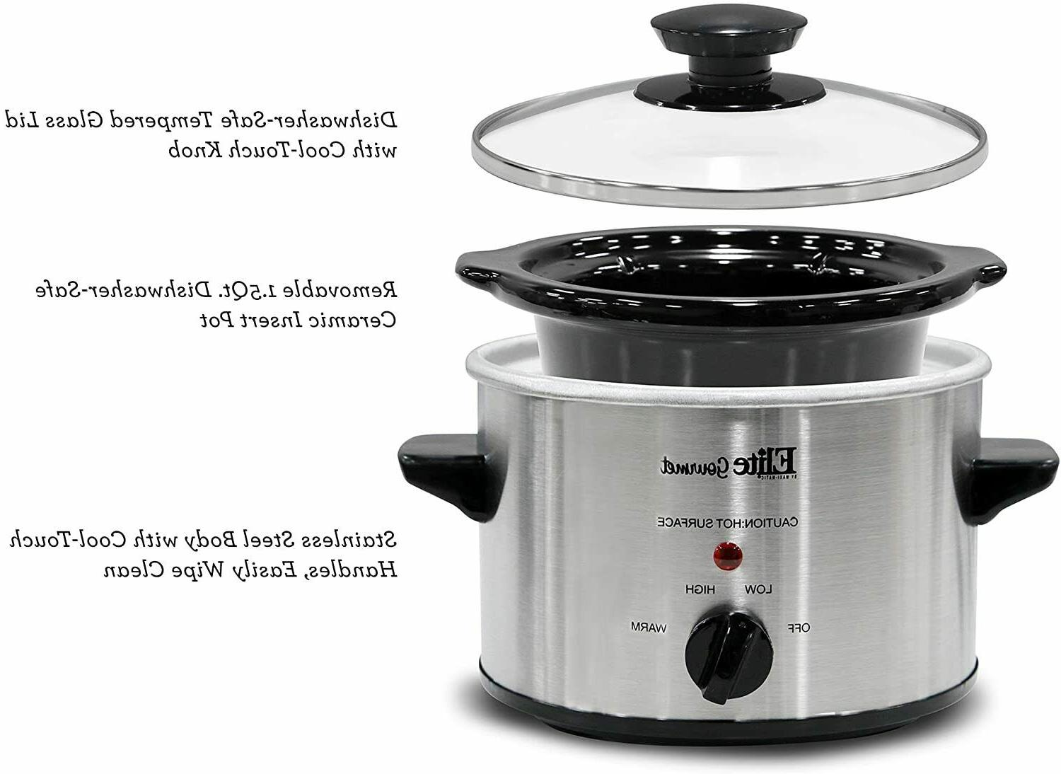 Small Slow Cooker Steel Kitchen