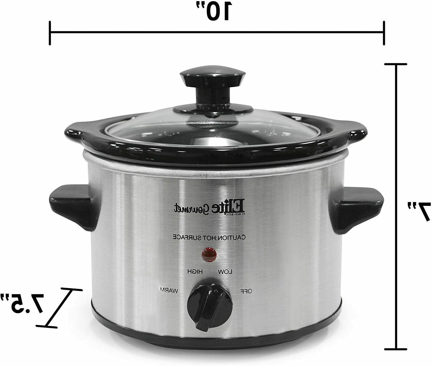 5Small Slow Stainless Steel Crock Pot