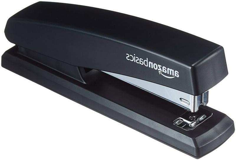 AmazonBasics Stapler with 1000 Staples | Black, 3-pack
