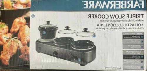 triple slow cooker dishwasher safe