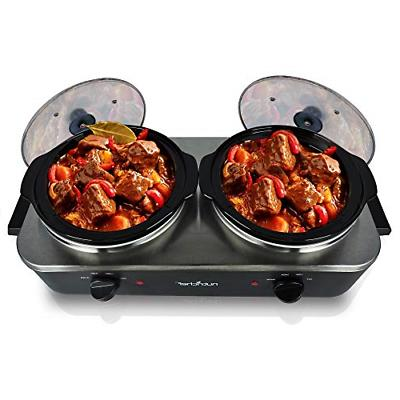 upgraded 2018 electric slow cooker crock pot