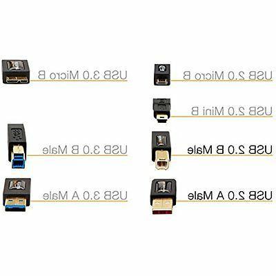 AmazonBasics USB 2.0 - to B-Male - Feet