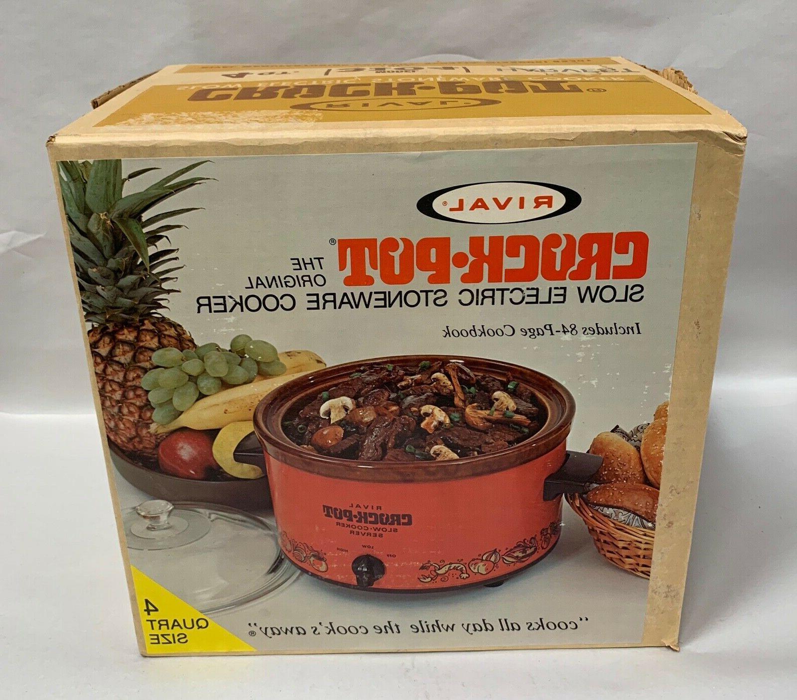 vtg rival model 3104 crock pot stoneware