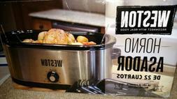 Large 22Quart Roaster Oven Electric Slow Cooker Turkey Roast