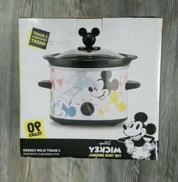 Mickey Mouse 2 Qt Slow Cooker/ Crock Pot   Imperfect Box NEW