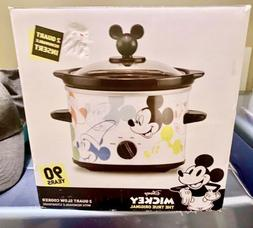 Disney Mickey Mouse 2 Quart Slow Cooker 90th Anniversary Whi