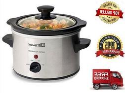 Mini Slow Cooker Crock Pot 1.5 Qt for 1-2 People Elite Gourm