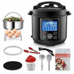 MOOSOO 12-in-1 Electric Pressure Cooker Instant Programmable