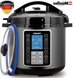 6Q Pressure Cooker Instant Crock 10 in 1 Hot Pot with German