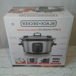 NEW BLACK + DECKER WiFi Enabled 6-Qt Slow Cooker Wi-Fi Crock
