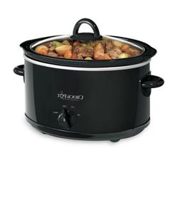 NEW Crock-Pot 4 Quart Manual Slow Cooker Black Food Warmer M