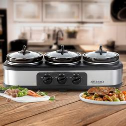 New Crock-Pot Trio Cook and Serve Slow Cooker and Food Warme