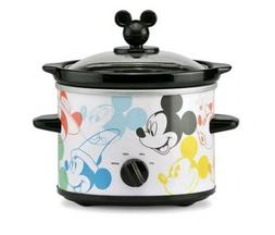 New Mickey Mouse 2 QT Crock Pot Slow Cooker Disney 90 Year C