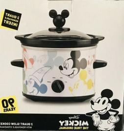 New ! Mickey Mouse 90 Years 2 Qt Crock Pot/Slow Cooker New I