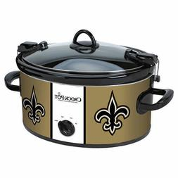 New Orleans Saints 6 Quart Novelty Crock Locking Lid Dishwas