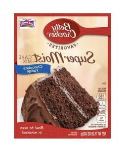 NEW BETTY CROCKER SUPER MOIST CAKE MIX CHOCOLATE FUDGE 15.25