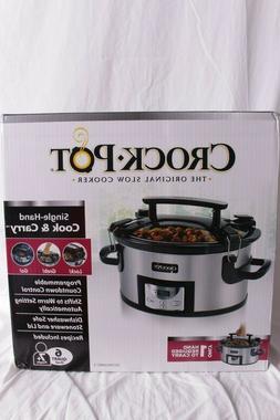 NIB Crock-Pot Cook and Carry Cooker with Digital Control 6 Q