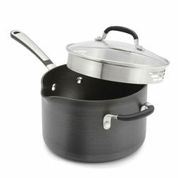 non stick 4 quart saucepan hard anodized