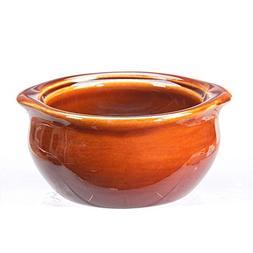 Vertex China OSC-10-B Brown Accessories Onion Soup Crock, 4-