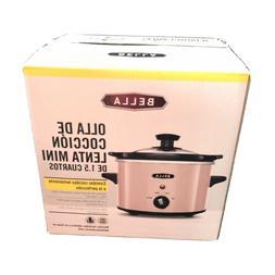 Bella Pink 1.5 qt Slow Cooker Crock Pot NEW in Box Quick Shi