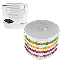 NutriChef PKFD18WT Kitchen Electric Countertop Food Dehydrat