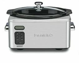 Cuisinart PSC-650 6.5 Quart Programmable Slow Cooker, Brushe