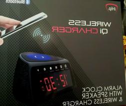 Qi Wireless Charging Alarm Clock Bluetooth Speaker With FM R