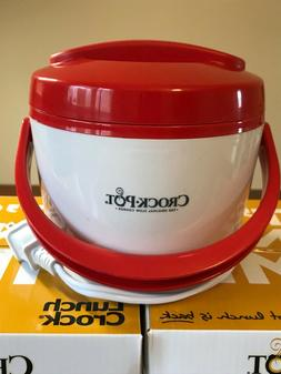 Red Crock-Pot SCCPLC201-G Portable Lunch Crock Slow Cooker F