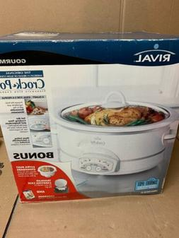 Rival 38601 Crockpot 6-Quart Oval Slow Cooker- White New In